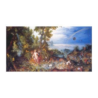Water, by Jan Brueghel the Elder Canvas Print
