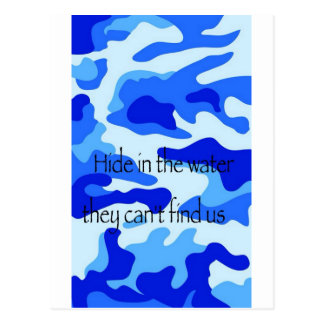 Water Camo Post Card