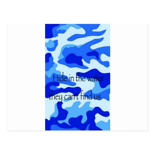 Water Camo Post Cards