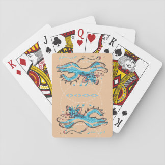 Water Cat spunky playing cards