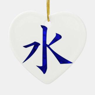 Water Ceramic Heart Decoration