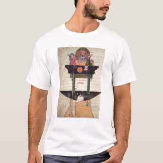 Water clock with automated figures T-Shirt