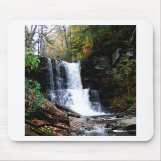 Water Cold River Falls Mousepads
