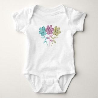 Water Color Flowers Baby Bodysuit