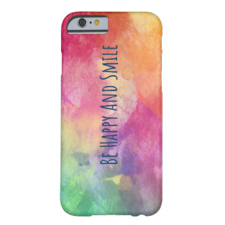 Water Color Happy Barely There iPhone 6 Case