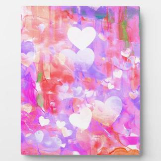 Water Color Hearts Plaque