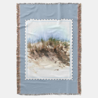 Water Color Sketch of Beach Dune Stamp