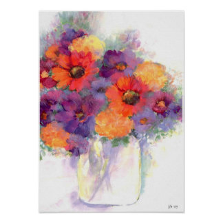 water color still life poster