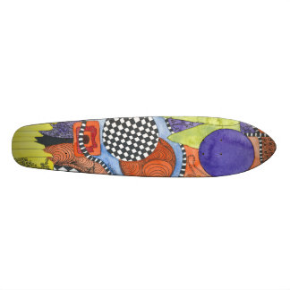 Water color Trendy and unique skate board