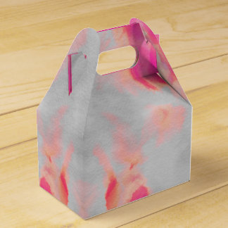 Water Color Wash Pink Favour Box