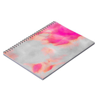 Water Color Wash Pink Spiral Notebook