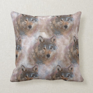 Water color Wolfs Cushion