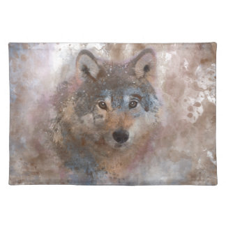Water color Wolfs Placemat