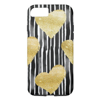 Water colors and glitter heart - mobile phone iPhone 8/7 case