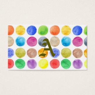 Water colour,big polka dot, funny,cute,girly,trend business card