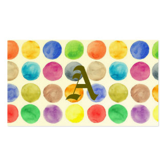 Water colour,big polka dot, funny,cute,girly,trend pack of standard business cards