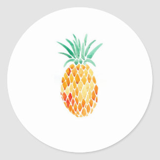 Water- Colour Pineapple Sticker