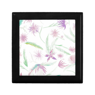 water colour pink palms gift box