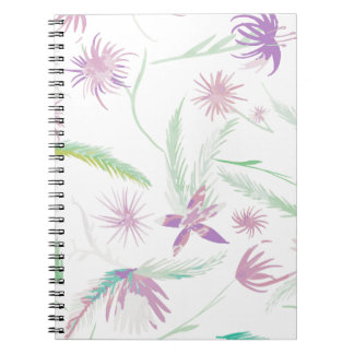 water colour pink palms notebooks