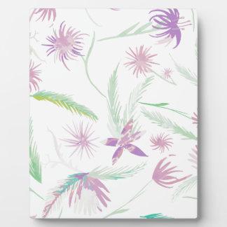 water colour pink palms plaque