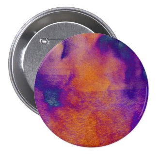 Water colour red yellow blue purple graphic art 7.5 cm round badge