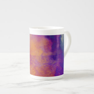 Water colour red yellow blue purple graphic art tea cup