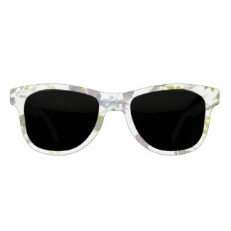 Water colour style romantic flower floral design sunglasses