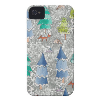 Water colour winter forest iPhone 4 Case-Mate case