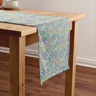 Water colour winter forest short table runner