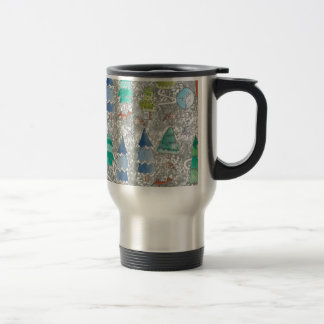 Water colour winter forest travel mug