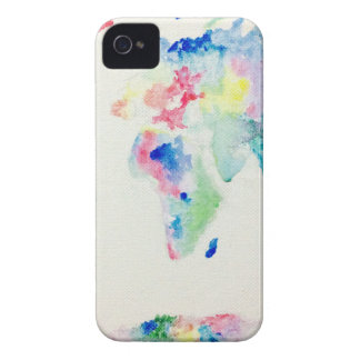 water colour world map iPhone 4 Case-Mate case