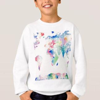water colour world map sweatshirt