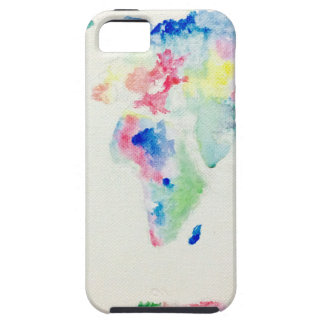 water colour world map tough iPhone 5 case
