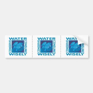 Water Conservation Bumper Sticker