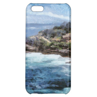 Water cove with rocky cliffs cover for iPhone 5C