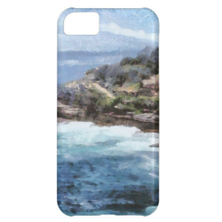 Water cove with rocky cliffs iPhone 5C case