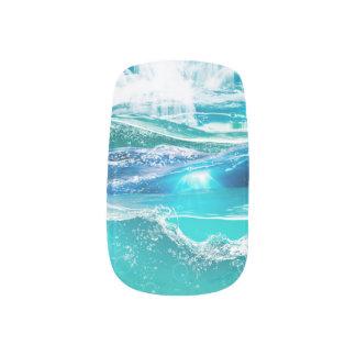 Water Dazzle print Minx Nail Art