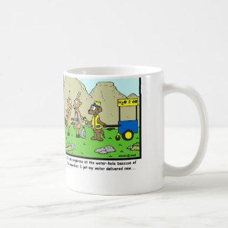 Water Delivery: Antelope Cartoon Coffee Mug