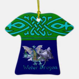 Water Dragon Double-Sided T-Shirt Ceramic Christmas Ornament
