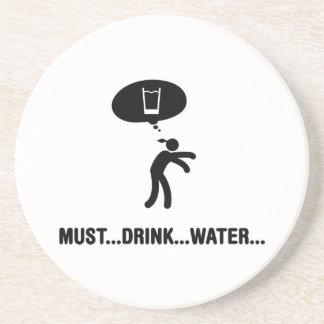 Water Drinker Drink Coasters