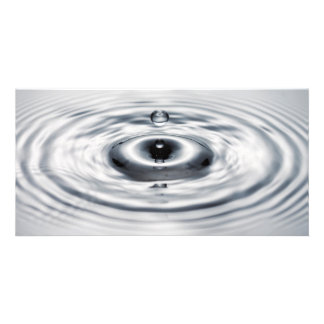 Water drop 4 personalized photo card
