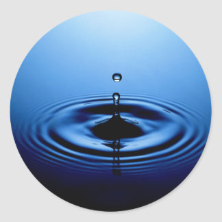 Water drop classic round sticker