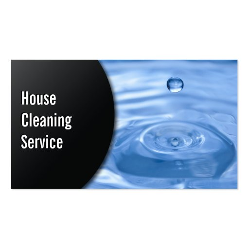 Water Drop House Cleaning Business Card