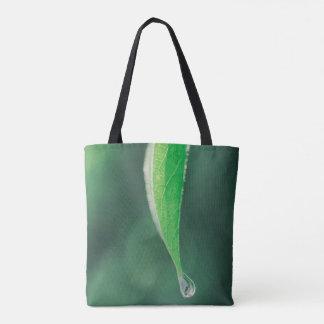 Water Drop on Leaf Tote Bag