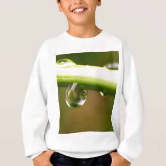 water drop on leaves sweatshirt