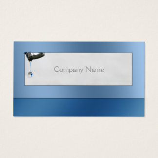 Water Drop Plumber Service Blue Card