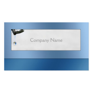 Water Drop Plumber Service Blue Card Pack Of Standard Business Cards