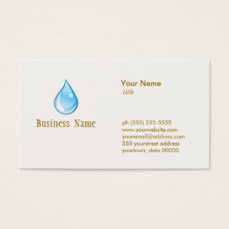 Water Drop Plumbing Business Card