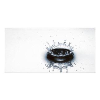Water drop splash photo greeting card