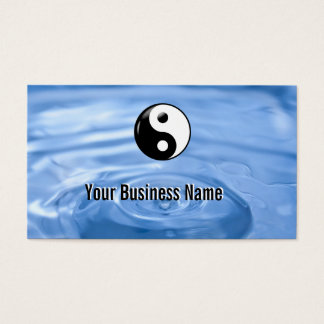 Water Drop Yin Yang Business Card